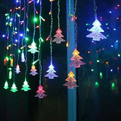 Klighten LED Lichterkette, Weihnachtsbeleuchtung, 96er LED Lichtervorhang Lang Weihnachtsbaum LED String Licht, Innen/Außen Weihnachtsdeko Deko Christmas 3.5 x 0.65 m, RGB