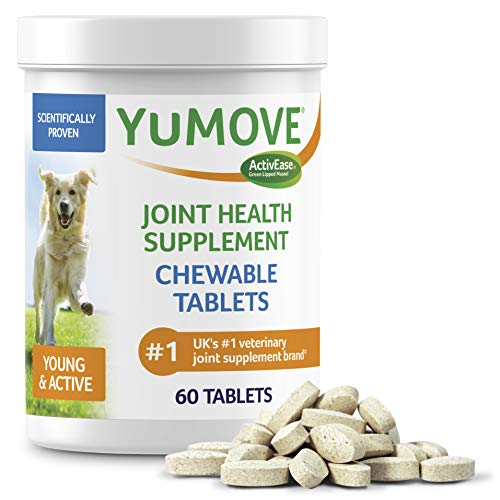 YuMOVE Young & Active Triple-Action Joint Supplement - Clinically Proven to Support Active and Growing Joints with Glucosamine and Sustainable Green Lipped Mussel, for Puppies and Young Adult Dogs