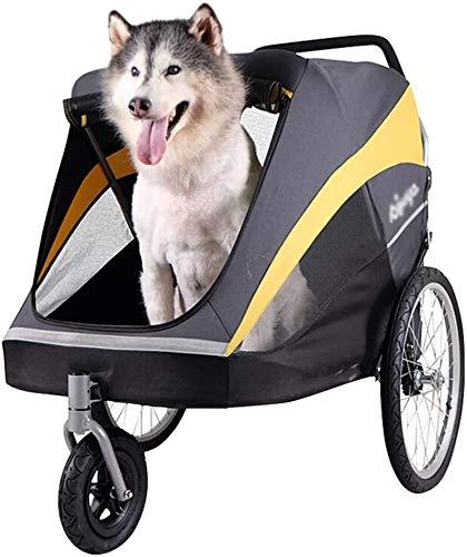 LAZNG Pet Bag Pet Kinderwagen, ausflug Wagen, Großer Hund Last 50 kg Weather Cover inklusive, Easy One-Hand...