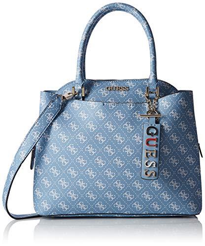 Guess Maci Large Girlfriend Satchel, Women's Top-Handle Bag, White (Sky), 32x27x12.5 cm (W x H L)