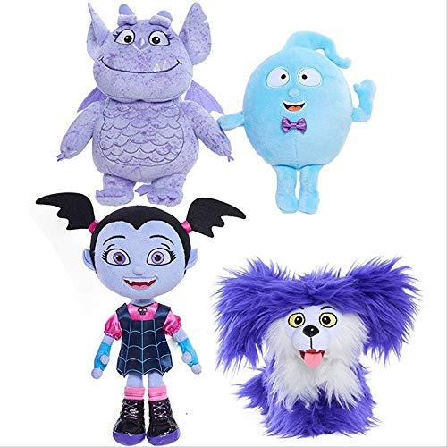N\A 20-30cm 4pcs / Lot Película De Dibujos Animados Junior Vampirina Girl Dog Stuffed Plush Doll Toys, The Vamp Girl Toys Children Gift 20-30cm 4 Piezas