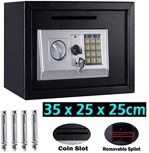 Robuste Heavy Duty 16L Sichere Sicherheit Home Office Box mit Zahlenschloss (Code & Key) Wasserdichte Elektronische Doppelraum-Sicherheitsbox