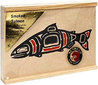 SeaBear Wood Box with Smoked Salmon, 4-Ounce Units (Pack of 2)