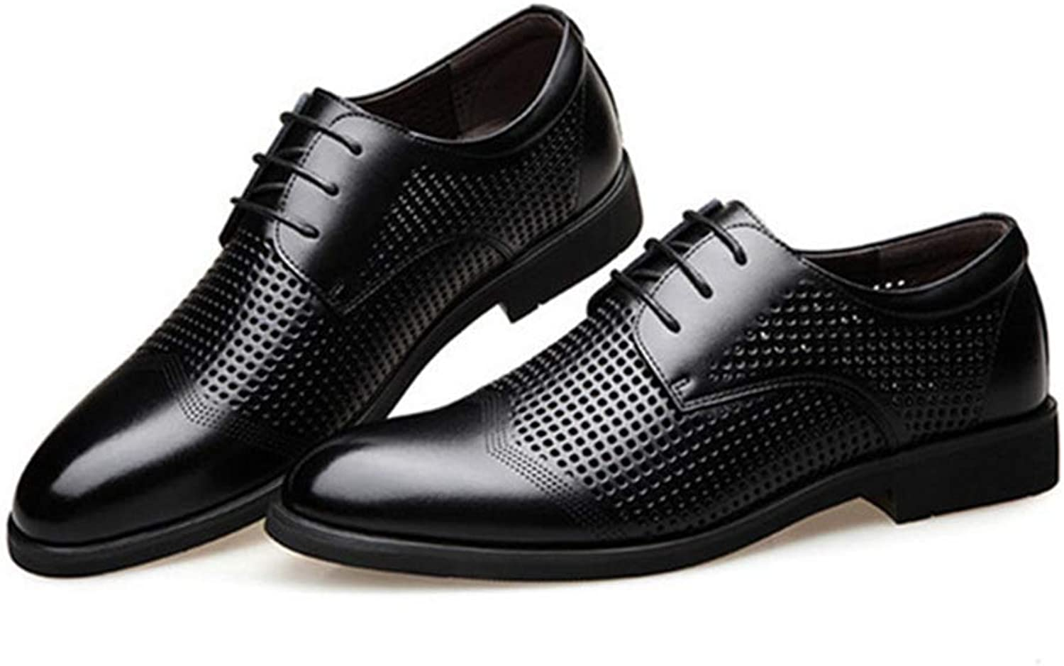 Men Dress shoes Genuine Leather Hollow Out Oxfords shoes Formal Men Wedding Party Brogue shoes Business Leather Footwear