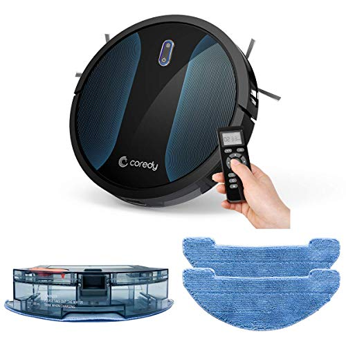 Read About Coredy Robot Vacuum Cleaner, Fully Upgraded, Boundary Strip Supported, 360° Smart Sensor Protection, 1400pa Max Suction, Super Quiet, Self-Charge Robotic Vacuum, Cleans Pet Fur, Hard Floor to Carpet