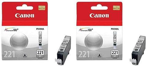 Canon 2 Pack CLI-221GR Gray Ink Tank for Pixma Inkjet Printer for MP980, MP990