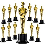 Vlish Gold Oscar Statue Trophy – Set of 12 | Awards for Sports Winners, Party Celebration, Ceremony, Appreciation Gift, Achievement | Kids and Adult