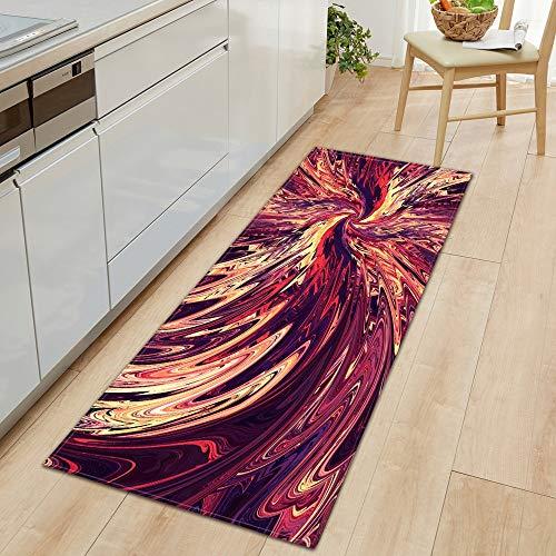 OPLJ Alfombra de Entrada Alfombrilla de Cocina Hogar Dormitorio Pasillo Alfombra de Piso Patrón 3D Decoración Alfombra Alfombra Antideslizante de baño A9 40x60cm + 40x120cm
