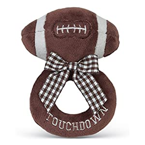 Bearington Baby Touchdown Plush Football Boy's Rattle 5.5″