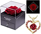 Real Preserved Rose - Eternal Rose Gift Box with Rose Necklace,...