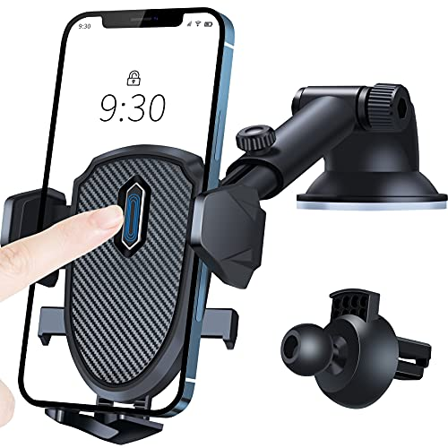 車載ホルダー スマホ車載ホルダー 360度回転 伸縮アーム 片手操作 2in1 ワンタッチ 粘着ゲル吸盤&エアコン吹き出し口式兼用 スマホスタンド 車 携帯ホルダー iphone 車載ホルダー 取り付け簡単 手帳型ケース対応 自由調節/日本語説明書付き/4-7インチ全機種対応 iPhone 12 Pro Max /12 Pro /12 /12 Mini /iPhone 11 Pro Max /11 Pro / XS Max / XR / X / 8 Plus/ 8 / 7 Plus / 7 / 6S /SE2 または SAMSUNG Galaxy S10 / S10 Plus / S9 / S9 Plus / Note 10 / Note 10 Plus / Sony / Huawei P30 / P30 PRO / P20 / P20 PRO / Google Pixel など; セール価格: ¥1,850