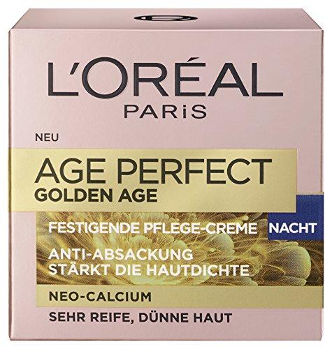 L'Oreal Paris Age Perfect Golden Age Nachtpflege, mit Neo-Calcium und Pfingstrosen-Extrakt, für...