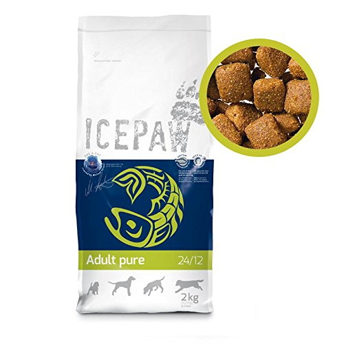 ICEPAW Adult Pure Trockenfutter für Hunde, 4er Pack-3+1Sack gratis (4 x 2 kg)