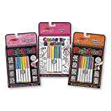 Melissa & Doug Color by Numbers and Magic Velvet Activity Pad 3-Pack (Unicorns, Butterflies, Puppies)