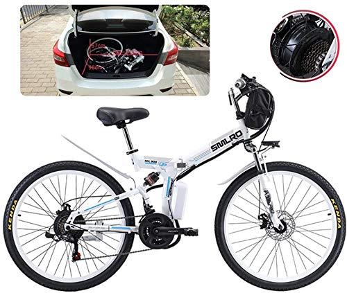 Bicicleta eléctrica de nieve, Bicicletas for adultos plegable eléctricos Comfort Bicicletas Bicicletas híbrido reclinada / Road 26 pulgadas Neumáticos Montaña bicicleta eléctrica 500W Motor 21 plazos