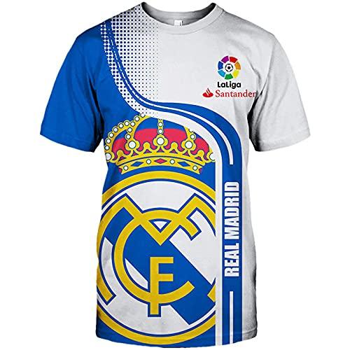 GAOjie Hoodies,Chaquetas,Camiseta,Pantalones-Cortos Cárdigan Delgado 3D Real Madrid Completo Impresión Sudaderas Hombres&Mujer Casual...