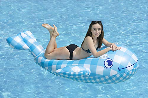 Poolmaster Willy The Whale Swimming Pool Float Rider, Whale