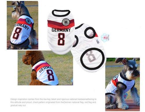 [Allemagne] Lovely Dog Apparel Pet Vêtements pour animal domestique de football Vêtements, taille XL