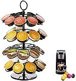LKHF Almacenamiento de cápsulas de café Organizador Giratorio de Soporte de carrusel Compatible con 36 cápsulas Keurig K-Cup Práctico