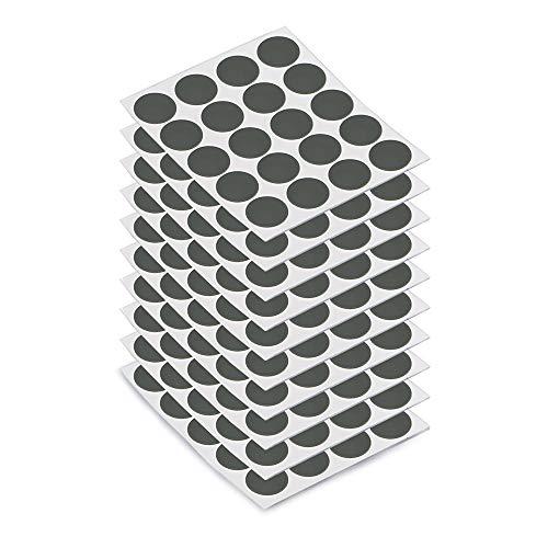 EMUCA 4026423 - Tapón para tornillos adhesivos, color gris antracita, diámetro 13 mm (200 unidades)