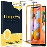 [2 Pack] UniqueMe Compatible con Samsung Galaxy M11 / A11 Protector de Pantalla, Vidrio Templado [9H Dureza] [Marco de Alineación] HD Film Cristal Templado