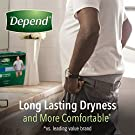 Depend FIT-FLEX Incontinence Underwear for Men, Maximum Absorbency, Disposable, Small/Medium, Grey, 32 Count #4