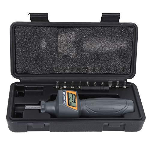 EVTSCAN Último destornillador de torsión digital, Destornillador de torque de precisión Herramienta manual ajustable preestablecida con 10 puntas de destornillador ZNS-8, Rango: 0.8-8N.m, Valor de div