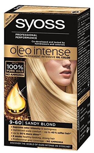 Syoss Oleo Intense Haarkleur Kleurstof 100% Pure Oliën 0% Amonia 9-60 Sandy Blond