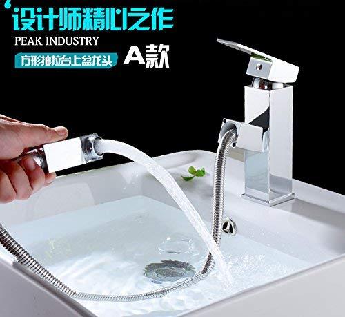 De combinatie van kleine appartementen Vanity Area van de badkamer kast met de ijdelheid van de wastafel zwembad met de zijkast 6019N, 80 Limieten aan te raken. Low, Square Pull-down Faucet