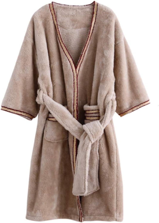 NAN Liang 100% Baumwollbademantel, luxuriöser luxuriöser luxuriöser Damenbademantel, Dicker, Warmer Winterdienst Bequem (größe   L) B07L8T4HNX  Jeder beschriebene Artikel ist verfügbar 07a1fd