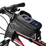 TAKEBEST Bolsas de Bicicleta, Bolsa Impermeable para Bicicleta, Bolsa de Marco de Bicicleta Bolso del Soporte del teléfono del Tubo del Tubo Superior de la Bici para Smartphone 7 Pulgadas