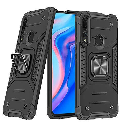 DASFOND Y9 Prime 2019/P Smart Z Funda, Funda Protectora de Grado Militar para teléfono con Soporte de Anillo de Metal Mejorado [Soporte magnético] Compatible con Huawei Y9 Prime 2019/P Smart Z, Negro