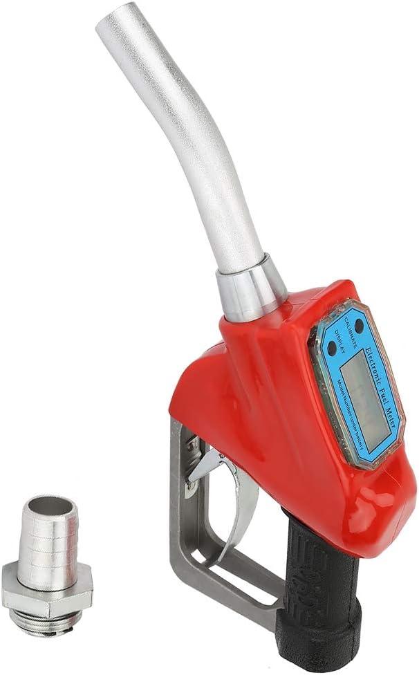 LANTRO JS - boquilla de llenado de aceite, pistola de combustible para fugas de aceite, boquilla de gasolina, boquilla de repostaje de pistola con medidor de flujo, boquilla de suministro de combustib