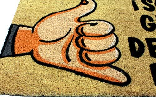 LucaHome - Felpudo de Coco Natural 70x40 con Base Antideslizante, Felpudo de Coco Divertido Solo Gente de Buen Rollo,Felpudo Absorbente Entrada casa, Ideal para Puerta Exterior o Pasillo