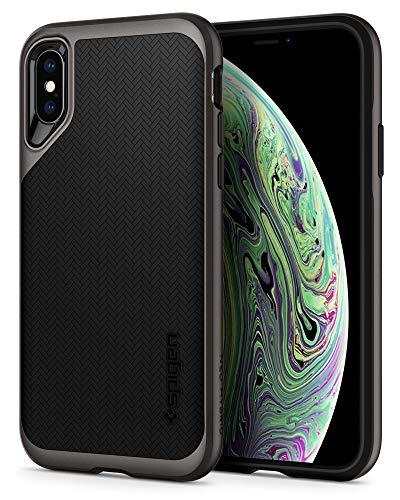 Spigen Funda Neo Hybrid Compatible con iPhone XS y Compatible con iPhone X - Bronce Gris