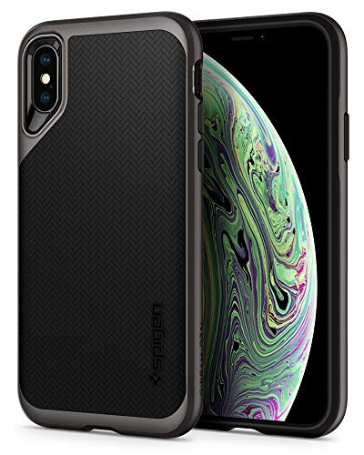 Spigen Funda Neo Hybrid Compatible con iPhone XS y Compatible con iPhone X - Bronce Gris