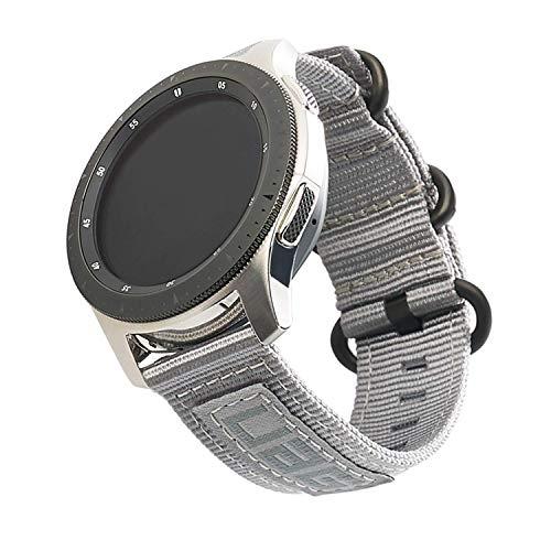 Urban Armor Gear Nato Strap Correa Samsung Galaxy Watch 46 mm, Gear S3 Frontier & Classic, Watch Active 2 44 mm (Diseñado para Samsung Smartwatches, Correa reemplazable) - gris