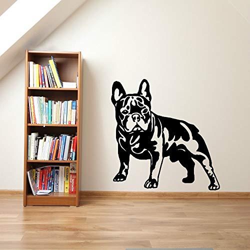 Hot verkoop echte cartoon muur art muursticker voor kinderkamer met tegels muursticker Franse hond vinyl