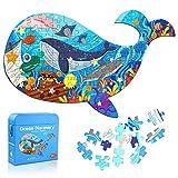 Puzzle Kinder 108 Teile, Jigsaw Puzzle Fisch Kinder Ocean Lernspiele Puzzle Spielzeug Geschenk für Kleinkinder Jungen Mädchen ab 3 4 5 6 7 8 Jahren