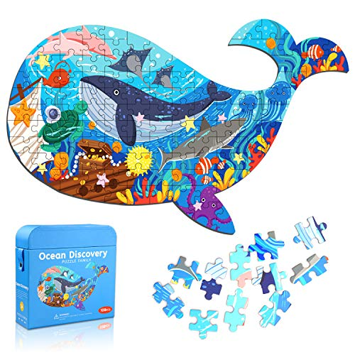 Puzzle Oceano Bambini, 108 Pezzi Jigsaw Pesce Puzzle Educativi 3 4 5 6 7 8 Anni, Giochi...