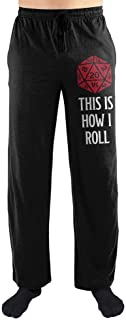 Mens Dungeons and Dragons Black Pajamas Dungeons and Dragons Pants
