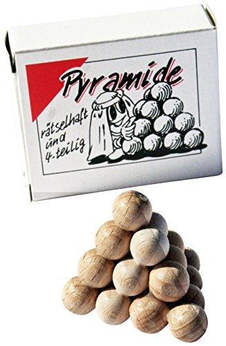 GICO Piramide sferica, 4 pezzi, mini puzzle in legno, gioco di pazienza