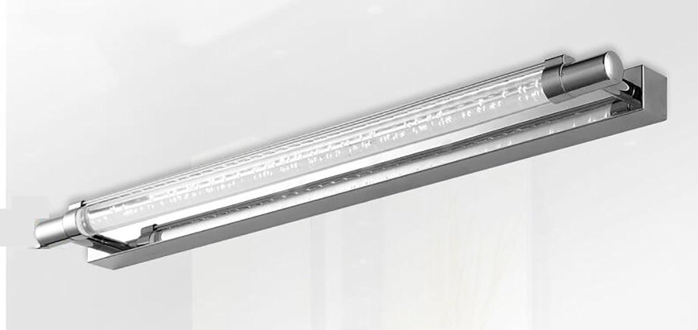 HOHE SHOP- Minimalist modernen Edelstahl-LED-Spiegelleuchte Bad Spiegelleuchten Badezimmerspiegelschrank Spiegelleuchten Wandleuchte (Farbe   52cm-Wei)