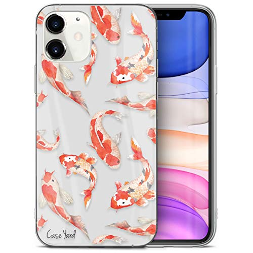 iPhone 11 Case by Case Yard Fit for iPhone 11 6.1-Inch [ 2019 Release ] Shock-Absorption iPhone 11 Case Clear iPhone 11 Clear iPhone 11 Case Koi Fish