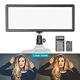 Neewer Super dünne zweifarbige dimmbare LED Videoleuchte mit LCD-Display, 2600mAh Li-Ionen-Akku und...