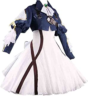 Womens Costume Cosplay Anime Uniform Suit Dress Outfit Dark Blue White