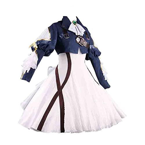 Ainiel Womens Costume Cosplay Anime Uniform Suit Dress Outfit Dark Blue  White 0e21215087