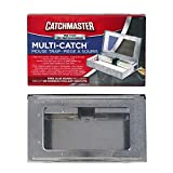 Catchmaster Multi-Catch Indoor / Outdoor Mouse Trap - with Glue Board - Pack of 6 Metal Traps