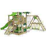 FATMOOSE Spielturm BananaBeach Kletterturm Baumhaus mit Schaukel