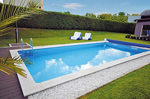KWAD Styropor Stein Pool All Inclusive inkl. Edelstahlleiter 800 x 400 x 150 cm